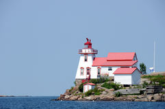 Light House. Lighthouse marking safe passage through channel to harbour Royalty Free Stock Images