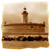 Light House. A sea shot for the light house in the Atlantic Ocean royalty free stock images