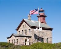 Light House. A light house on Block Island, RI stock photo