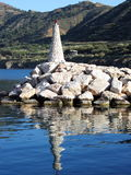 Light house. A small light house at the port of Pomos, Cyprus Royalty Free Stock Photo