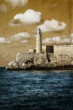 Light house in aged background Stock Photo