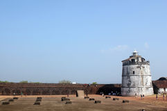 Light house of Aguada fort, Goa, India Stock Image
