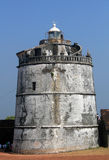 Light house of Aguada fort, Goa, India Stock Photo