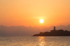 Light house in Alcanada on the island majorca Royalty Free Stock Photography