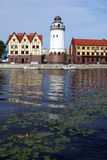 Light house on the bank Royalty Free Stock Photo