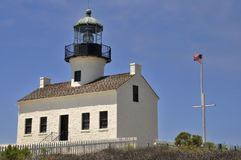 Light House at Cabrillo Point Royalty Free Stock Images