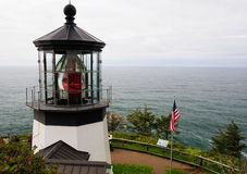 Light house in cape meares Stock Photography