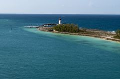 Light House in the Caribbean Stock Image