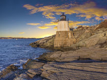Light house. Castle Hill light house off the coast of Rhode Island Stock Photography