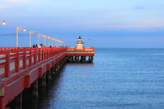 Light House at Chalong Pier, Phuket Stock Images