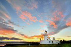 Light House at Chanonry Point. Black Isle, Scotland at dusk royalty free stock images