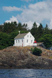 Light House on Cliff Royalty Free Stock Photos