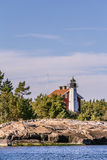 Light House at the  coast of Sweden Stock Image