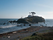 Light house at Crescent City California Stock Image
