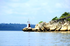 Light house on elephant beach, havelock Royalty Free Stock Photo