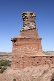 The Light House Formation in Palo Duro Canyon. Stock Photos