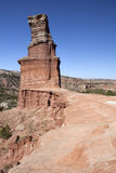 The Light House Formation in Palo Duro Canyon. Stock Photo