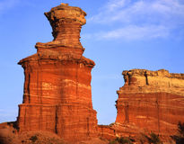 Light House Formation (V) (T). The Light House formation in Texas's Palo Duro Canyon State Park Royalty Free Stock Photo