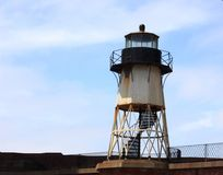 Light house on Fort Point next to the Golden Gate Bridge Royalty Free Stock Images