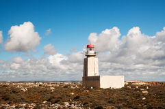 Light house at Fortaleza de Sagres in Portugal Stock Images