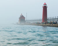 Light House at Grand Haven Michigan Royalty Free Stock Photo