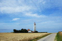 Light House Helnaes Funen Stock Images