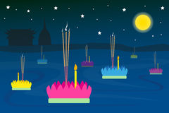 Loykrathong Festival of Thailand Stock Photography