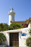 Light house in italy. Small lighthouse near san felice circeo in italy Stock Image