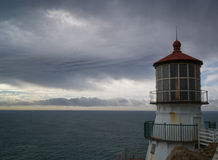 Light House with Lamp Stock Image
