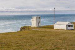Light house on Latrabjarg - Iceland. Stock Photos