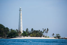 Light house in Lengukas island, Indonesia Royalty Free Stock Images