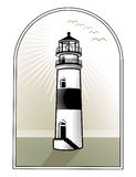 Light house logo Stock Image