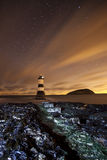 Light house at night Royalty Free Stock Photography