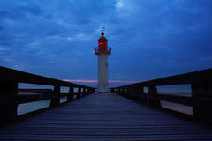 Light house in Normandy Stock Photo