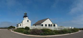 Light house on old point Loma. Taken at Cabriilo national monument park San Diego Royalty Free Stock Photos