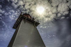 Light House. An old light house in Westfield New Brunswick stock image
