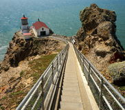 Light House. The Point Reyes Light House in Northern California Stock Photo