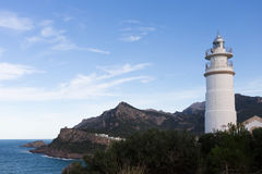 Light house in Puerto Soller Majorca Royalty Free Stock Photography