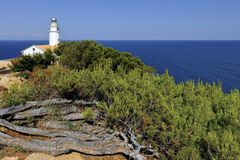 Light House, Punta de Capdpera, Majorca, Spain Stock Images