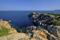 Light House, Punta de Capdpera, Majorca, Spain Royalty Free Stock Photography