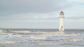 Light house rough sea Royalty Free Stock Photo