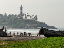 Light house by the sea. Stock Image