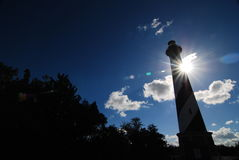 Light House Silhouette Royalty Free Stock Photography