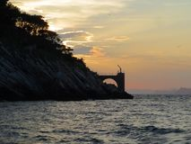Light house st.Andria.Sunset-Croatia stock photo