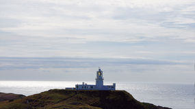Light house on Strumble head in Wales Stock Photography
