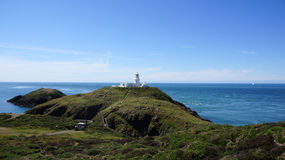 Light house on Strumble head in Wales Royalty Free Stock Photo