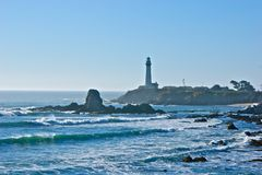 Light House Summer Day. Peaceful day in Half Moon Bay Royalty Free Stock Photography