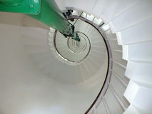 Light house tower spiral steps Royalty Free Stock Photography