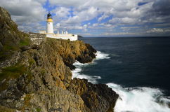 Lighthouse on cliff tops  Royalty Free Stock Photos
