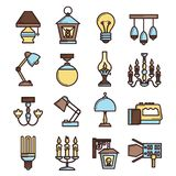 Light Icon Set Royalty Free Stock Photography